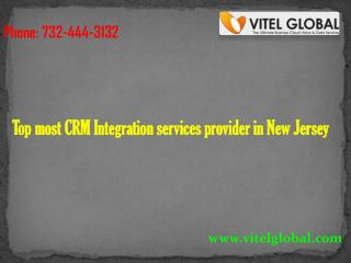 Top most CRM Integration services provider in New Jersey