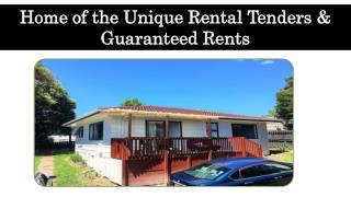 Home of the Unique Rental Tenders & Guaranteed Rents
