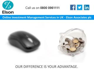 Online Investment Management Services in UK - Elson Associates plc
