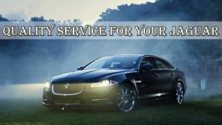 Quality Service for Your Jaguar