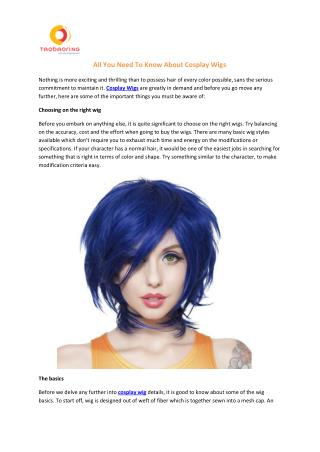 All You Need To Know About Cosplay Wigs