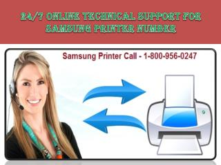 Samsung Printer Tech Support Phone Number 1-800-956-0247