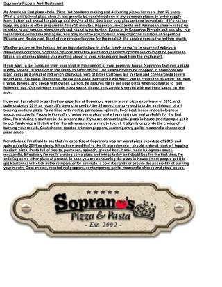 Soprano's Pizza&Pasta