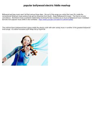 popular bollywood electric violin mashup