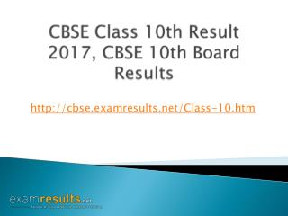 CBSE Class 10th Result 2017, CBSE 10th Board Results