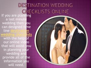 Destination Wedding Planner Online