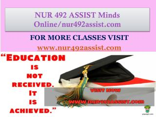 NUR 492 ASSIST Minds Online/nur492assist.com