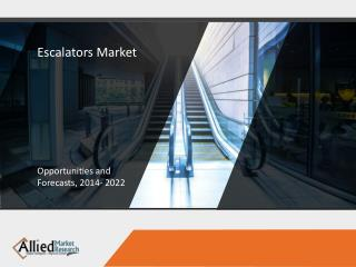 Escalators Market to Garner $5,146 Million, Globally, by 2022
