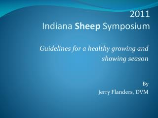 2011  Indiana Sheep Symposium