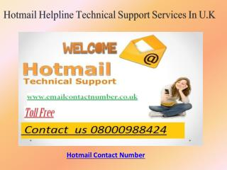 HOTMAIL HELPLINE  NUMBER FOR INSTANT HELP