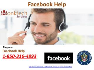 Facebook Help 1-850-316-4893 - a channel towards resolution