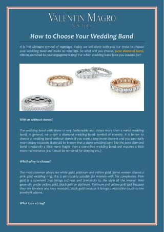 How to Choose Your Wedding band