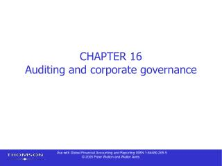 CHAPTER 16 Auditing and corporate governance