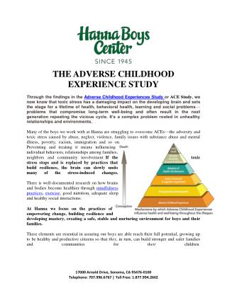 The ADVERSE CHILDHOOD EXPERIENCE study