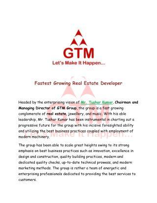 Fastest Growing Real Estate Developer
