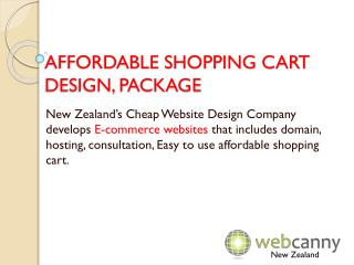 Affordable Shopping Cart Design, Package | Cheap Ecommerce Website Design