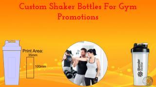 Custom Shaker Bottles For Gym Promotions