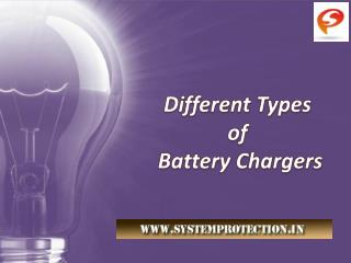 Different Types of Industrial Battery Chargers