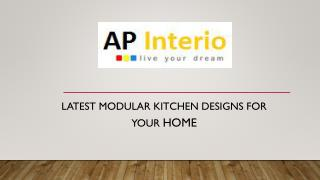 Latest modular kitchen designs for your home