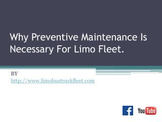 Why Preventive Maintenance Is Necessary For Limo Fleet