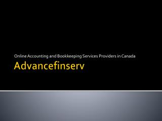 Online Tax Return Services in Quickbooks | Best Accounting Firm in Canada | Advancefinserv.com