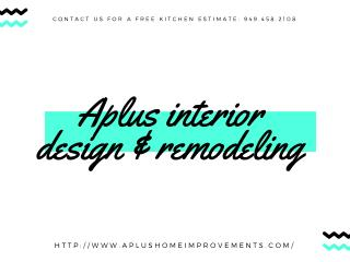 Aplus interior design kitchen remodeling