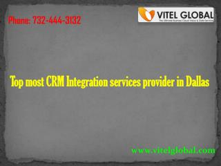 Top most CRM Integration services provider in Dallas