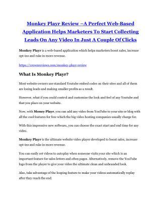 Monkey Playr review - Monkey Playr (SECRET) bonuses