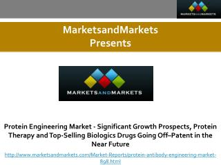 Protein Engineering Market - Significant Growth Prospects, Protein Therapy and Top-Selling Biologics Drugs Going Off–Pat