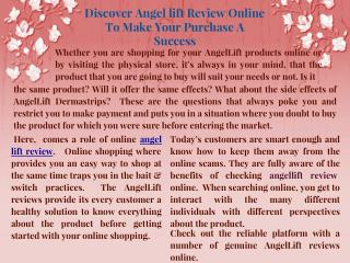 Discover Angel Lift Review