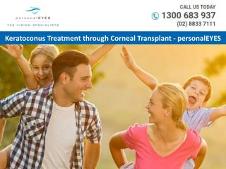 Keratoconus Treatment through Corneal Transplant – personalEYES