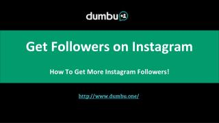 Dumbu - Get Followers on Instagram