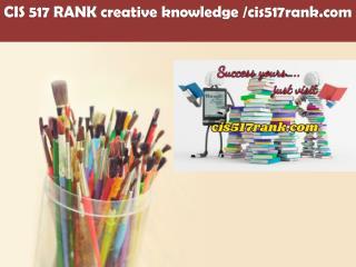 CIS 517 RANK creative knowledge /cis517rank.com