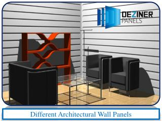 Different Architectural Wall Panels