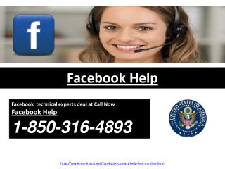 Why would it be a good idea for us to go for Facebook Help 1-850-316-4893?
