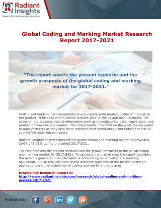 Global Coding and Marking Market Research Report 2017-2021