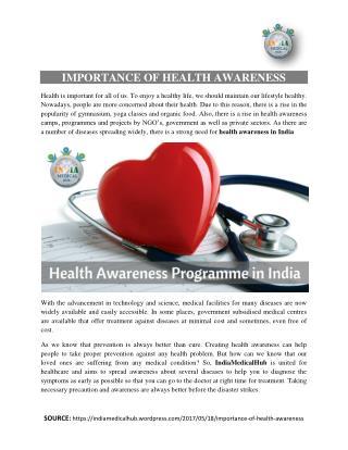 Health Awareness Programme in India
