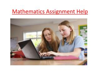 Mathematics Assignment Help Online