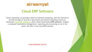 Get professional organizational environment with Alrasmyat Cloud ERP software