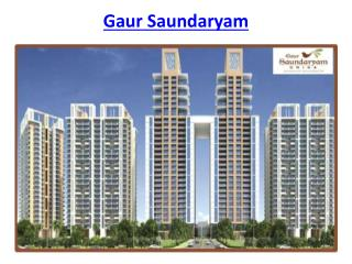 Gaur Saundaryam Greater Noida West low density project