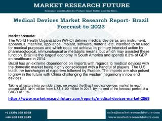 Medical Devices Market Research Report- Brazil Forecast to 2023