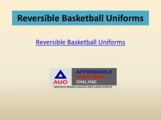 Reversible Basketball Uniforms