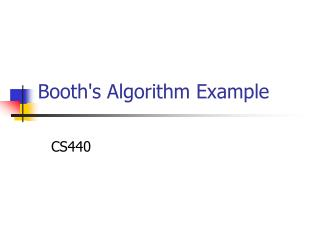 Booths Algorithm Example