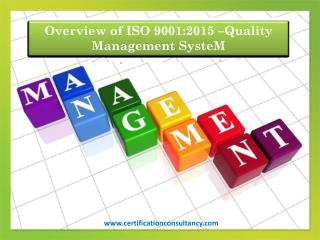 Qms - ISO 9001:2015 Certification