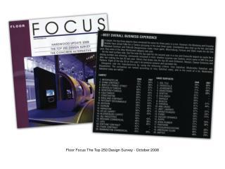 Floor Focus The Top 250 Design Survey - October 2008
