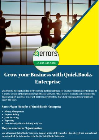 Grow your Business with QuickBooks Enterprise