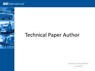 Technical Paper Author