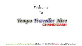 Hire 12 Seater tempo and Car Rent Service in Chandigarh