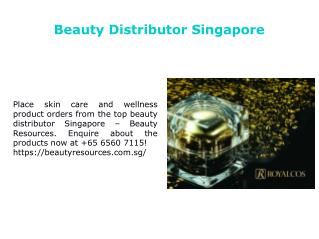 Top Beauty Distributor in Singapore