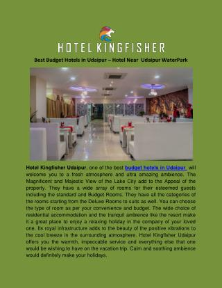 Best Budget Hotels in Udaipur - Hotel Kingfisher Udaipur